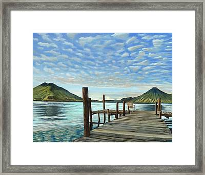 Sunrise At The Water Framed Print