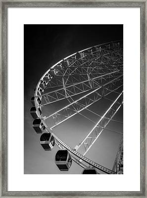 Sunrise At The Wheel In Black And White Framed Print