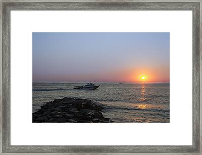 Sunrise At Townsends Inlet Framed Print by Bill Cannon