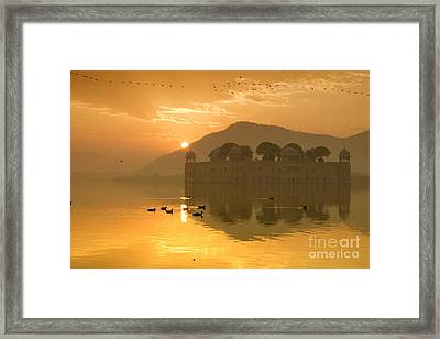 Framed Print featuring the photograph Sunrise At Water Palace by Yew Kwang