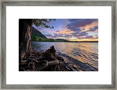 Sunrise At Waterton Lakes Framed Print