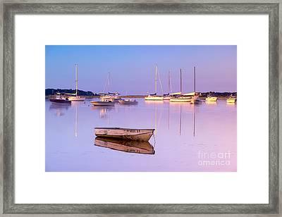 Sunrise At West Bay Osterville Cape Cod Framed Print