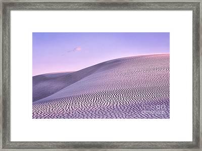 Sunrise At White Sands Framed Print