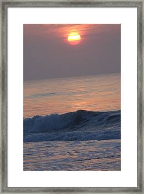 Sunrise At Wrightsville Beach Framed Print