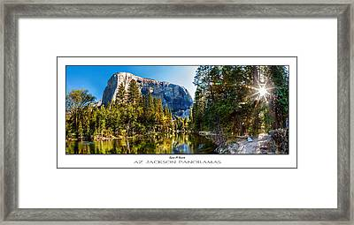 Sunrise At Yosemite Poster Print Framed Print