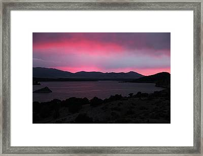 Sunrise At Yuba Lake Framed Print by Dan Pearce
