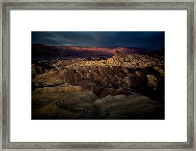 Sunrise At Zabiskie Point Framed Print