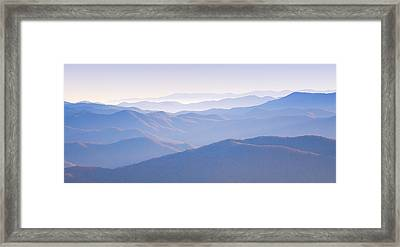 Sunrise Atop Clingman's Dome Gsmnp Framed Print