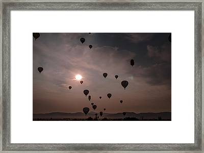Sunrise Balloons Framed Print by Rick Mosher