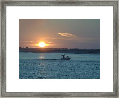 Framed Print featuring the photograph Sunrise Bassing by  Newwwman