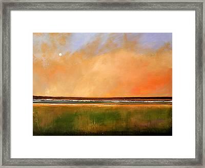 Sunrise Beach Framed Print by Toni Grote