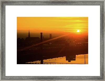 Sunset Belfast Framed Print