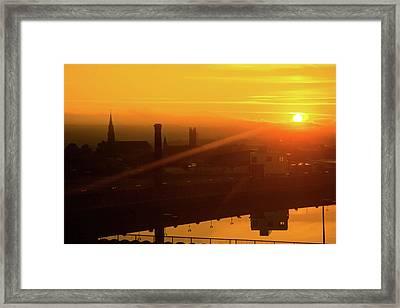 Sunset Belfast Framed Print
