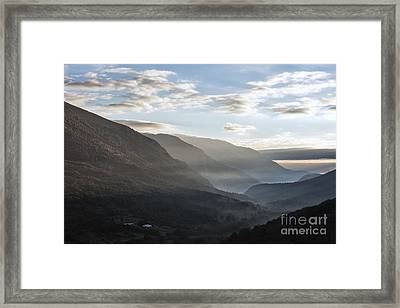 Sunrise Between The Mountains Of The Abruzzo National Park Framed Print