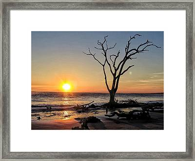 Sunrise Big Talbot Island Framed Print