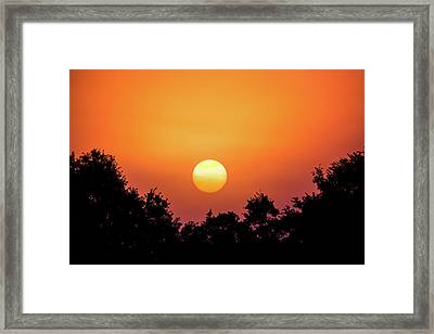 Framed Print featuring the photograph Sunrise Bliss by Shelby Young