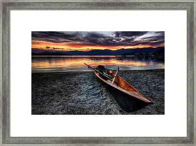 Sunrise Boat Framed Print by Matt Hanson