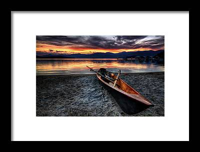 Canoes Framed Prints