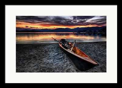 Canoe Framed Prints