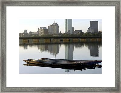 Sunrise Boats Framed Print by Mimi Katz