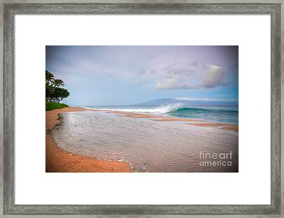 Framed Print featuring the photograph Sunrise Break by Kelly Wade