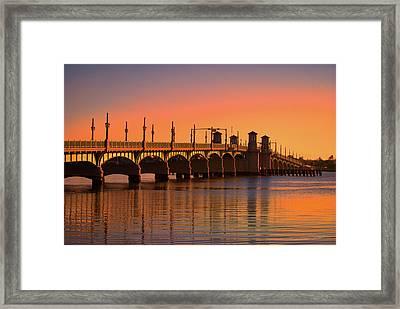 Sunrise Bridge Of Lions Framed Print