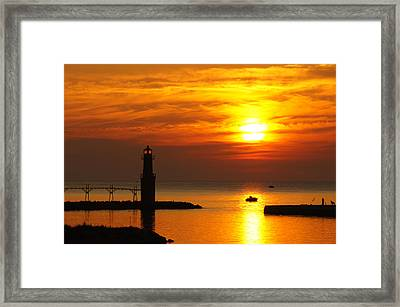 Sunrise Brushstrokes Framed Print by Bill Pevlor