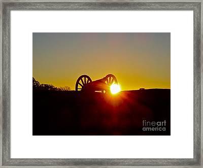 Sunrise Cannon Framed Print by E Robert Dee