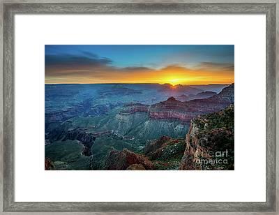 Sunrise Canyon Framed Print