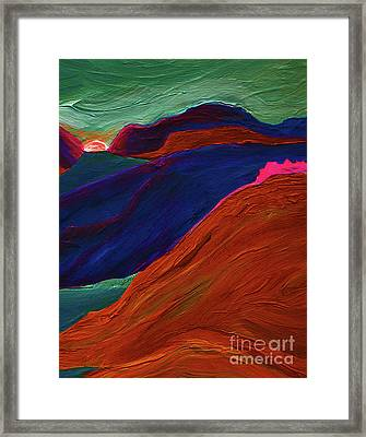 Framed Print featuring the painting Sunrise Castle 2  by First Star Art