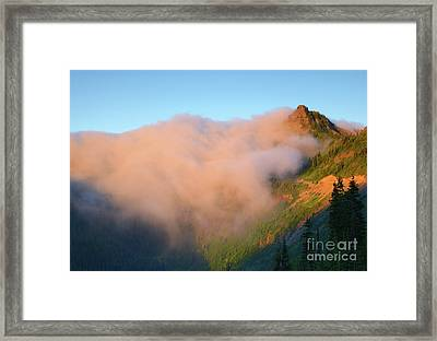 Sunrise Chinook Pass Framed Print by Mike Dawson