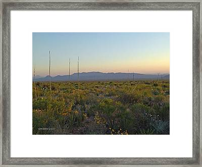 Framed Print featuring the photograph Sunrise Christmas Mountains by Kerry Beverly
