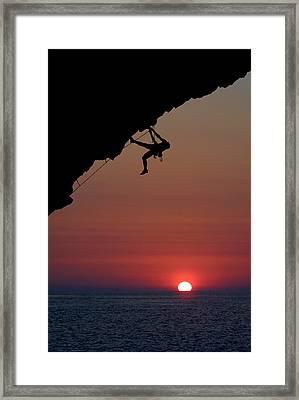 Sunrise Climber Framed Print by Neil Buchan-Grant