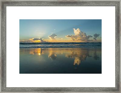 Sunrise Cloud Parade Delray Beach Florida Framed Print by Lawrence S Richardson Jr