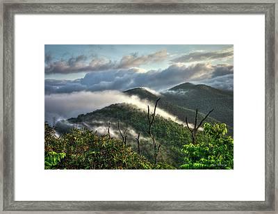 Sunrise Clouds Blue Ridge Parkway Framed Print by Reid Callaway