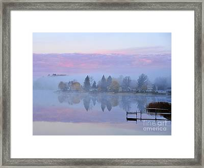 Sunrise Comes To Stoneledge Lake Framed Print