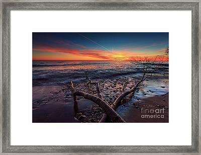 Sunrise Crossing  Framed Print