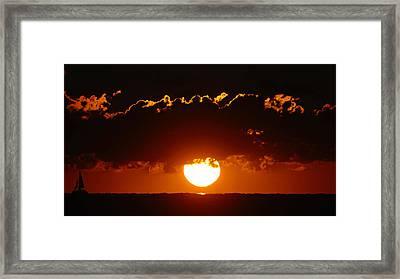 Sunrise Crown Framed Print