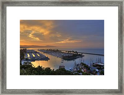 Sunrise Dana Point Harbor Framed Print by Cliff Wassmann