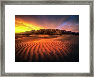 Sunrise-death Valley Framed Print