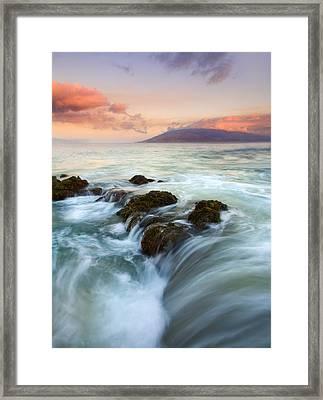 Sunrise Drain Framed Print by Mike  Dawson