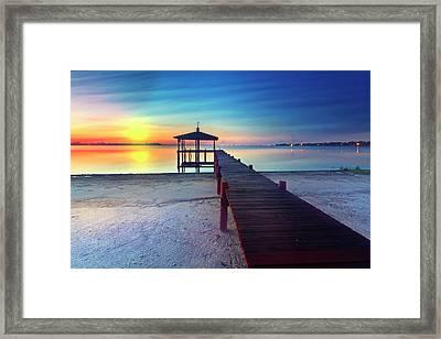 Sunrise Dreaming Framed Print by Debra and Dave Vanderlaan