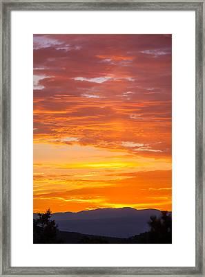 Sunrise Framed Print by Elena E Giorgi