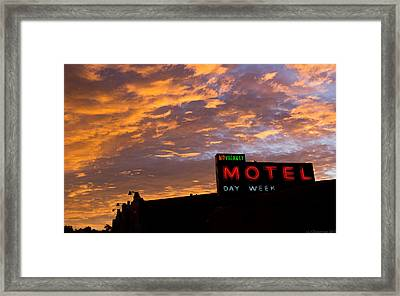 Framed Print featuring the photograph Sunrise Enters Capitola by Lora Lee Chapman