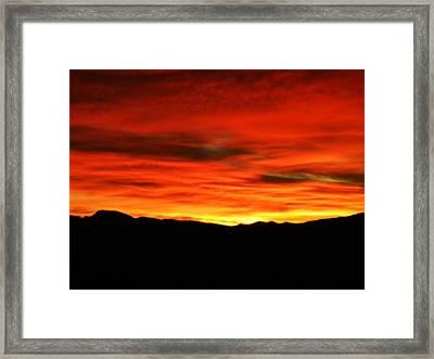 Sunrise Framed Print by Eric De La Fuente