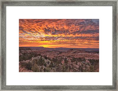 Framed Print featuring the photograph Sunrise Explosion by Stephen  Vecchiotti