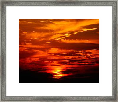 Sunrise Feathers Framed Print