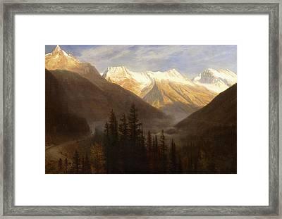 Sunrise From Glacier Station Framed Print by Albert Bierstadt