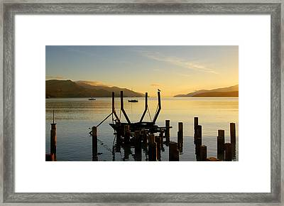 Sunrise From Governors Bay Framed Print by Barry Culling