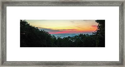 Sunrise From Maggie Valley August 16 2015 Framed Print